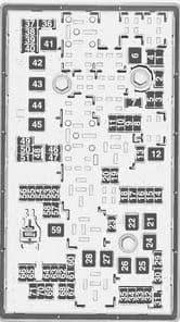 Vauxhall Insignia FL - fuse box - engine compartment