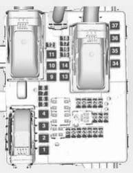Vauxhall Insignia FL - fuse box - load compartment