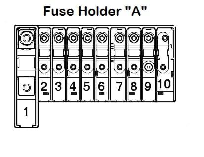 Volkswagen Transporter T5 ESSENTIALS - fuse box - holder A