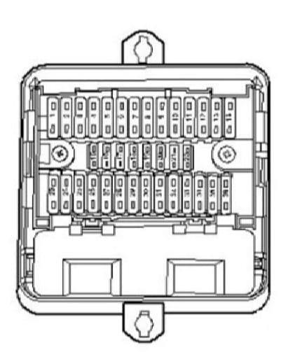 Volkswagen Transporter T5 ESSENTIALS - fuse box - holder D