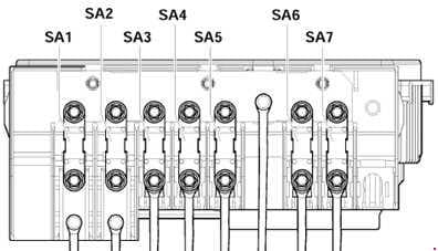 Volkswagen Golf (1K) - fuse box diagram - engine compartment