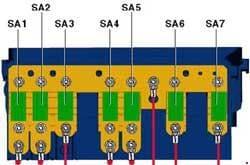 Volkswagen Passat B7 - fuse box diagram - Fuse holder A -SA- on E-box high