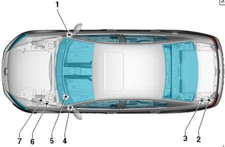 Volkswagen Passat B7 - fuse box diagram - location