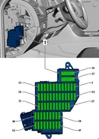 Volkswagen Toured - fuse box diagram - fuse assignment in fuse box, left dash panel