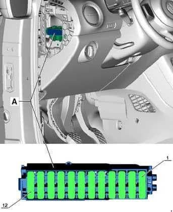 Volkswagen UP! - fuse box diagram - fitting location fuse holder D -SD-