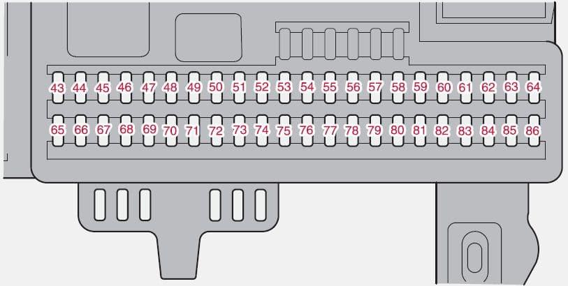Volvo C30 - fuse box - passenger compartment