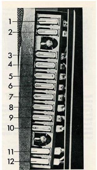Volvo 244 - fuse box -  instrument panel