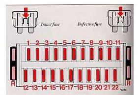 Volvo 760 - fuse box diagram- instrument panel