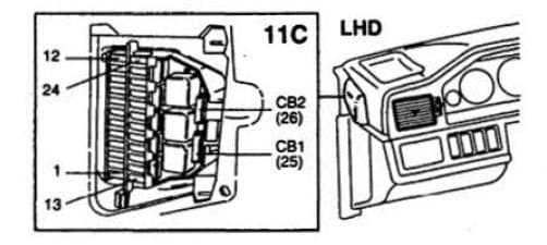 Volvo 960 - fuse box diagram - instrument panel