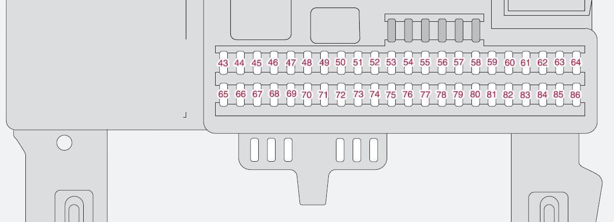 Volvo S40 mk2 - fuse box - passenger compartment