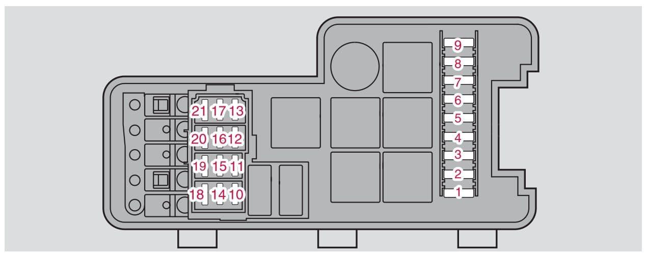 Volvo S60 mk1 - fuse box - engine compartment