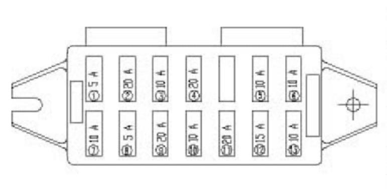 Yuchai Minitractor YC25-8 - fuse box